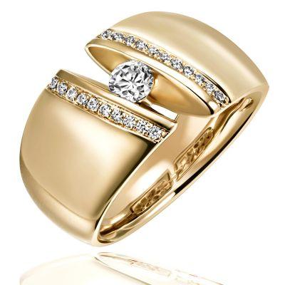 Damen Ring Marielle Gelbgold 585 mit Brillanten 0.38 ct. Größe wählbar 52-60