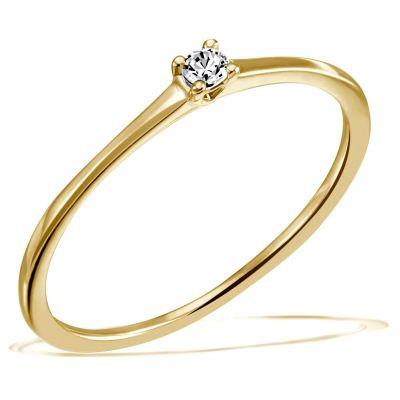 Jana Ring 585/- Gelbgold 0,05/ 0,10/ 0,15 ct. VS/G