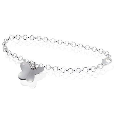 Armband Schmetterling 925 Sterlingsilber 1 Diamant 0,01 ct.
