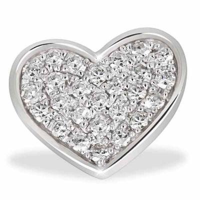 Anhänger Pavee Herz 585 Weißgold 26 Diamanten zus. 0,10 ct. SI1/H