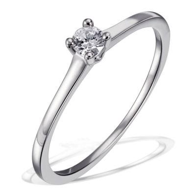 Damenring Verlobungsring, Freundschaftsring 925 Sterlingsilber 1 Brillant 0,10 ct. SI1/H