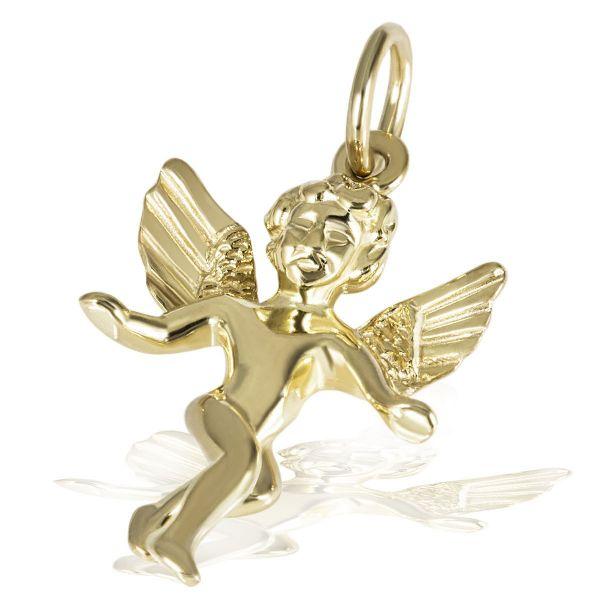 Anhänger Tanzender Engel 375 Gelbgold