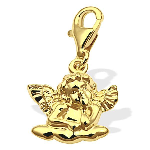 Charms Engel 333 Gelbgold mit Karabiner