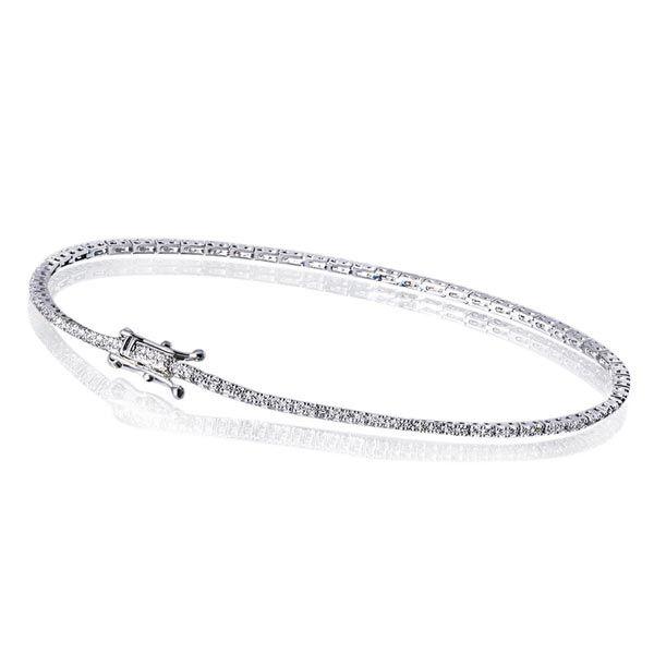 Armband Tennisarmband 585 Weißgold 115 Brillanten zus. 1,00 ct. SI1/H