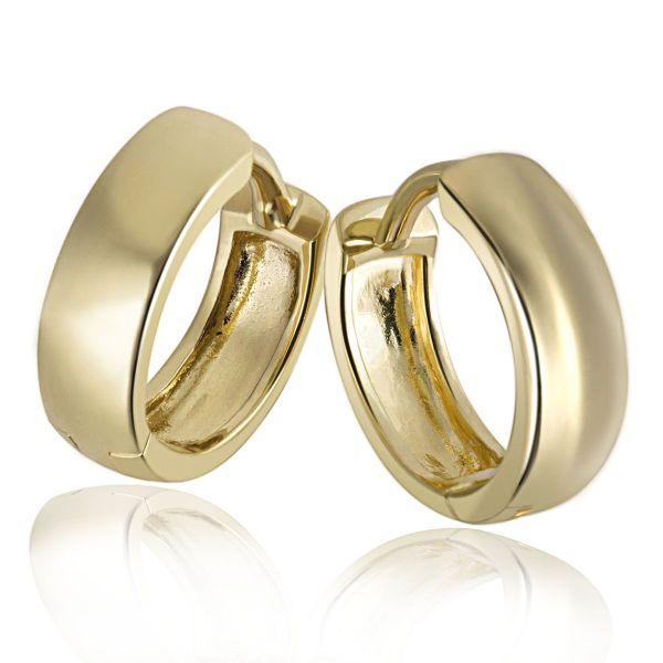 Paar Creolen Daily 375 Gelbgold Ohrringe hochglanzpoliert Alltagsklassiker