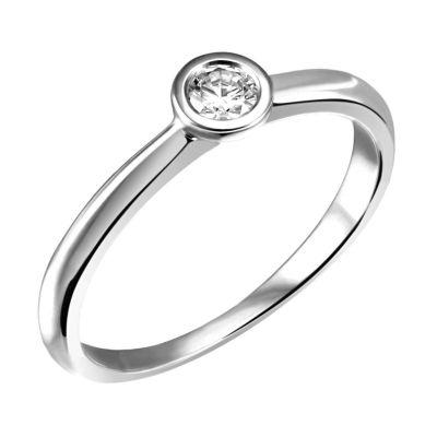 Stella Ring 585/- Weißgold 0,05/ 0,10/ 0,15 ct. VS/G