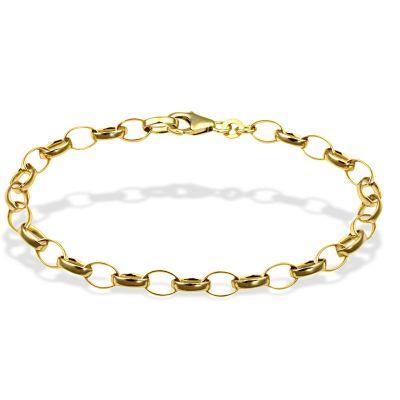 Armband Erbskette Schwer 333 Gelbgold 19 cm