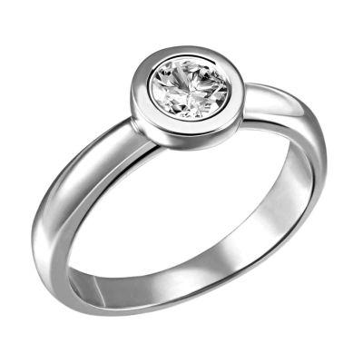 Stella Ring 750/- Weißgold 1 Brillant 0,50 ct. Lupenrein oder SI inkl. IGI Gutachten