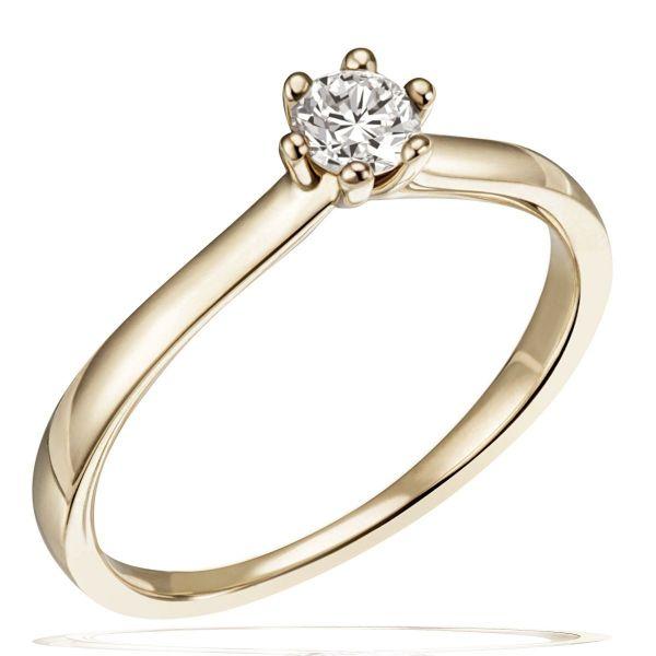 Laura Ring 585/- Gelbgold 1 Brillant 0,25/ 0,30/ 0,40 ct. VS/G