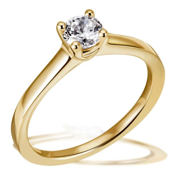 Jana Ring 750/- Gelbgold 1 Brillant 0,50 ct. Lupenrein oder SI inkl. IGI Gutachten