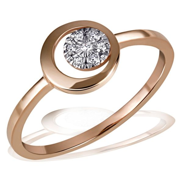 Damenring Cosmic 585 Rotgold 7 Diamanten zus. 0,06 ct.