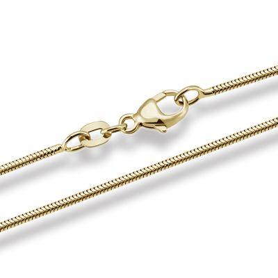 Schlangenkette Halskette Gelbgold 585/- oder 750/-