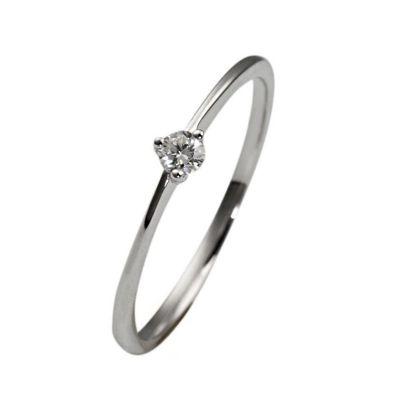 Goldmaid Solitär Ring Verlobungsring 375 Weißgold 1 Brillant 0,07ct. P2 weiss