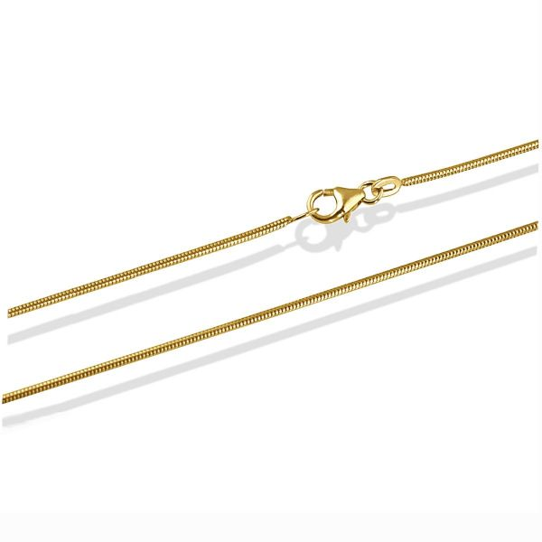Schlangenkette Halskette 50 cm 585/- oder 750/- Gelbgold