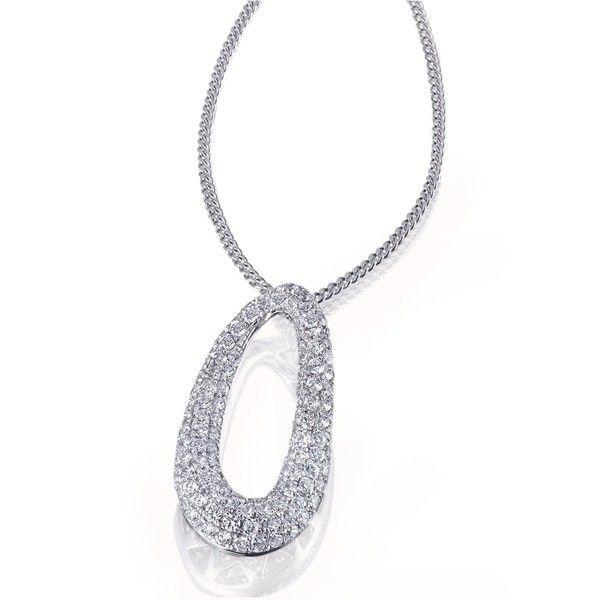 Collier Halskette Pavee-Fire 925 Sterlingsilber 106 Zirkonia weiß