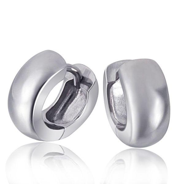 Paar Creolen 925 Sterlingsilber Klassische Unisex Ohrringe