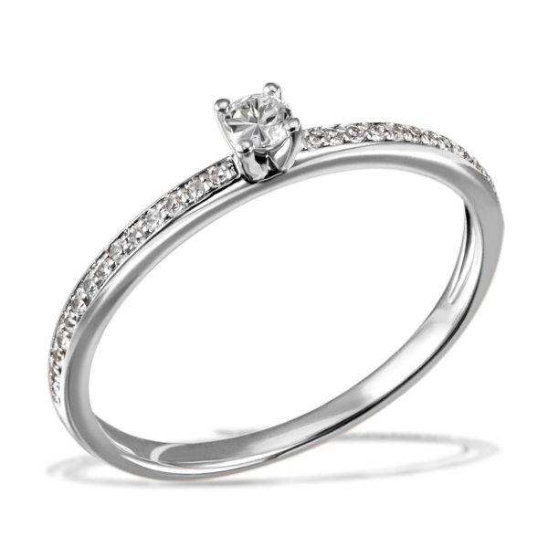 Damenring Verlobungsring Fabienne 585 Weißgold 29 Brillanten zus. 0,18 ct.