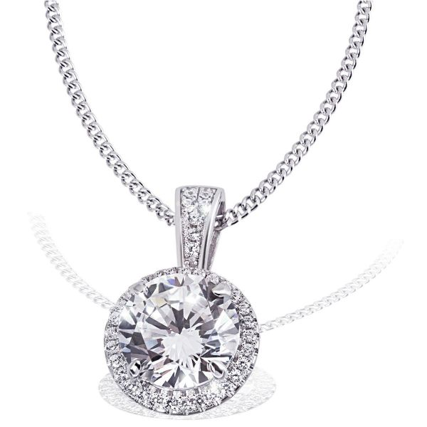 Collier Queen 925 Sterlingsilber 37 Zirkonia