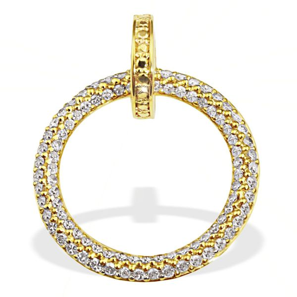 Anhänger Pavee 585 Gelbgold 92 weiße Diamanten zus. 0,42 ct.