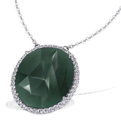 Collier Green Energy 925 Sterlingsilber 1 Aventurin 14,41 ct. grün, 46 Zirkonia